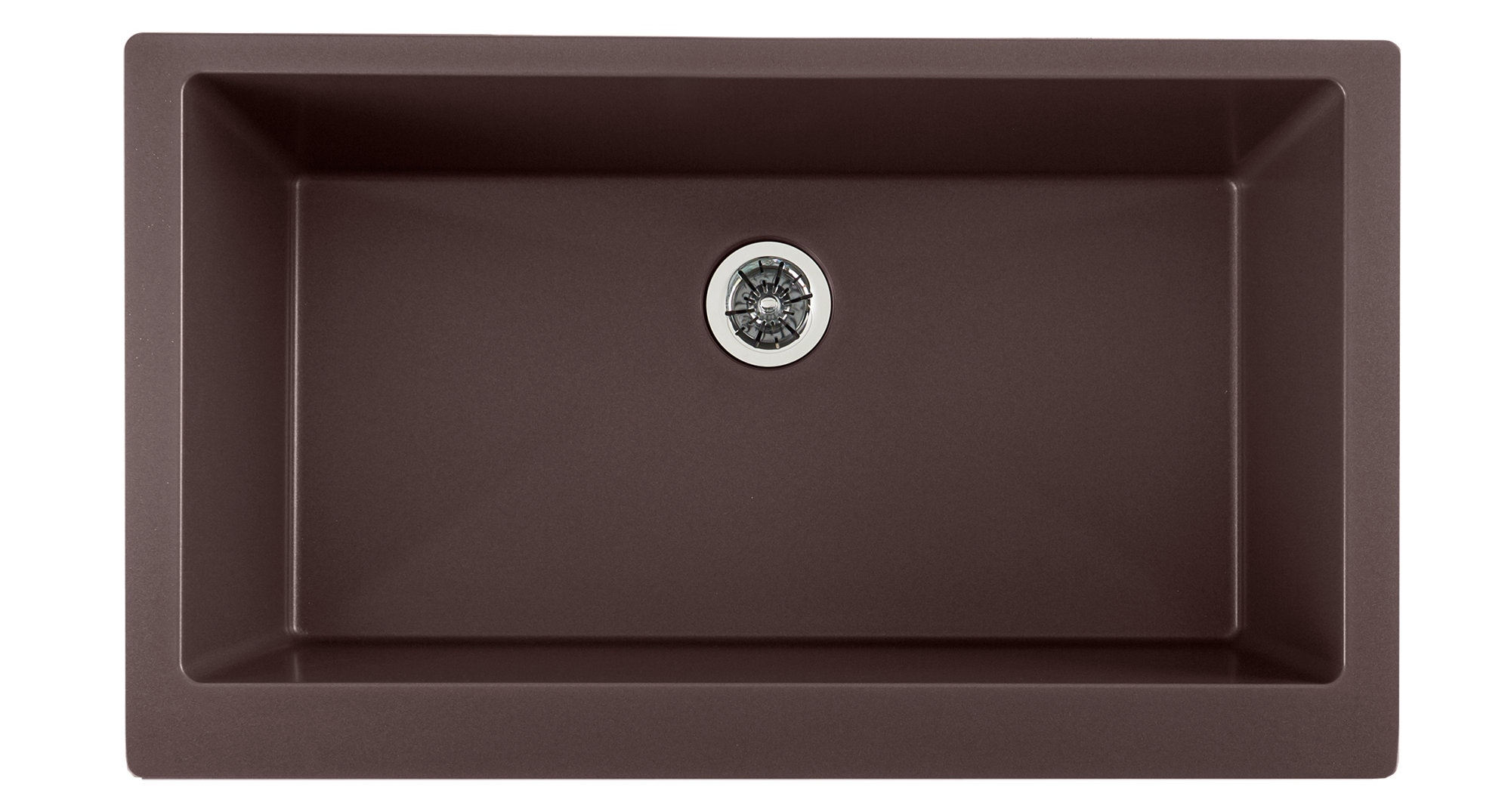 Elkay Quartz Luxe 35-7/8in x 20-15/16in x 9in Single Bowl Farmhouse Sink with Perfect Drain Chestnut
