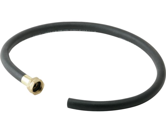 Elkay 36 Black Heavy Duty Rubber Hose With Standard Female Faucet Hose Connection On One End
