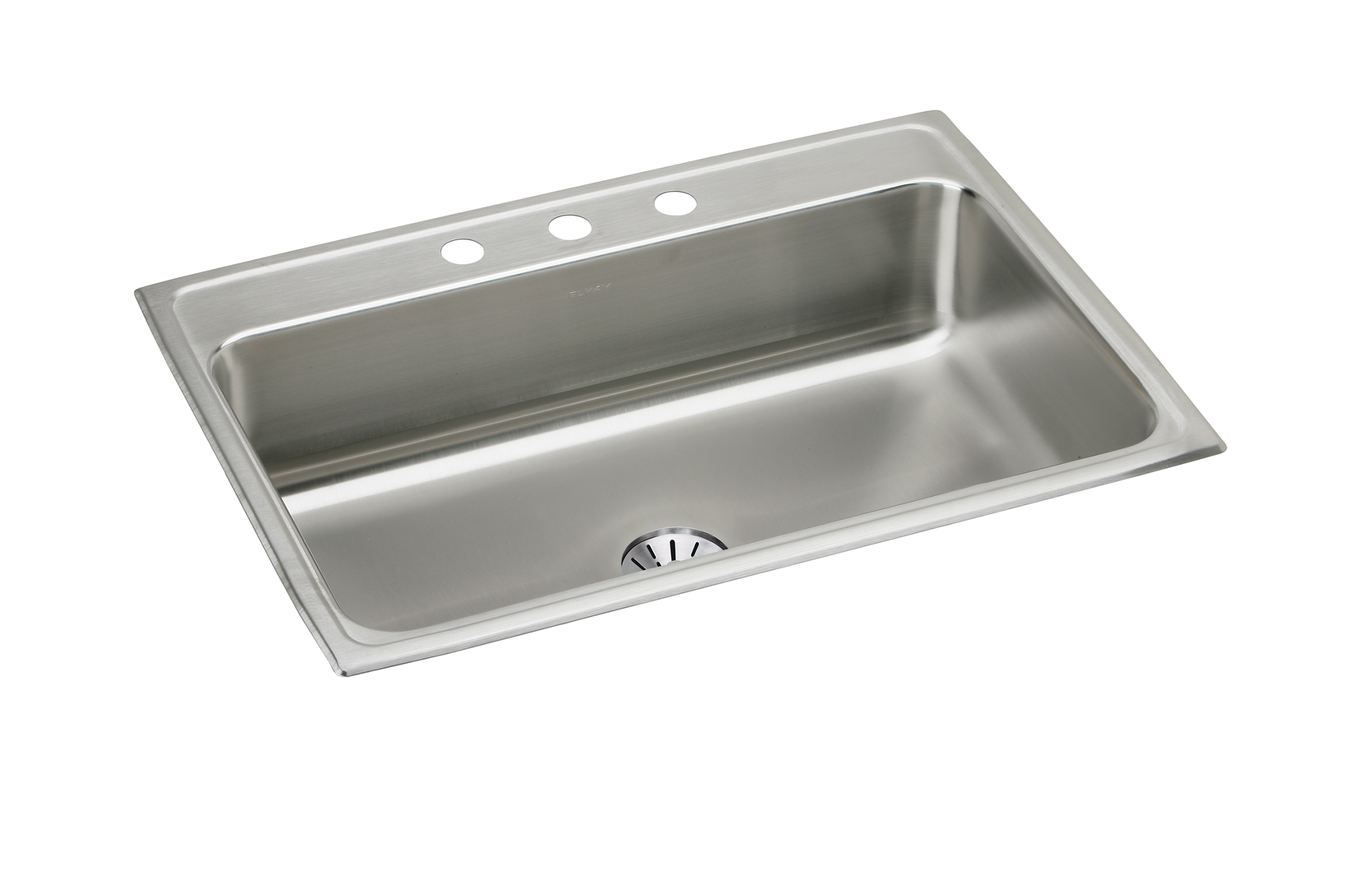 Elkay Lustertone LR3322PDMR2 Equal Double Bowl Top Mount Stainless Steel Sink with Perfect Drain