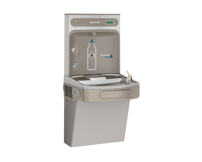 Elkay Ezh2o Bottle Filling Station With Single Ada Cooler Filtered Refrigerated Light Gray