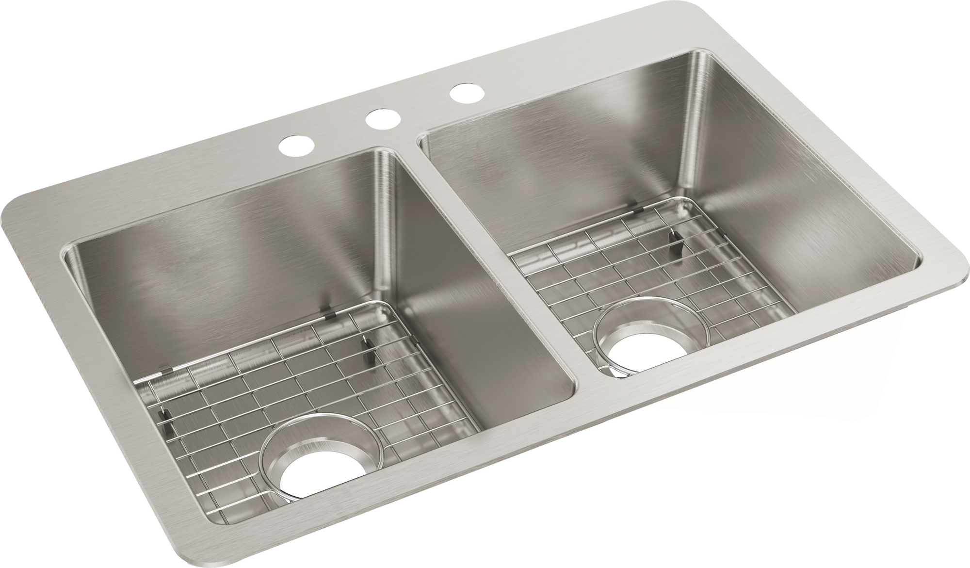 Elkay Avenue Stainless Steel 33 X 22 X 9 Double Bowl Dual Mount Sink