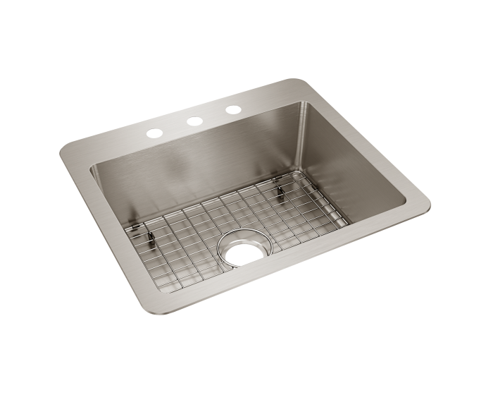Elkay Avenue Stainless Steel 25 X 22 X 9 Single Bowl Dual Mount