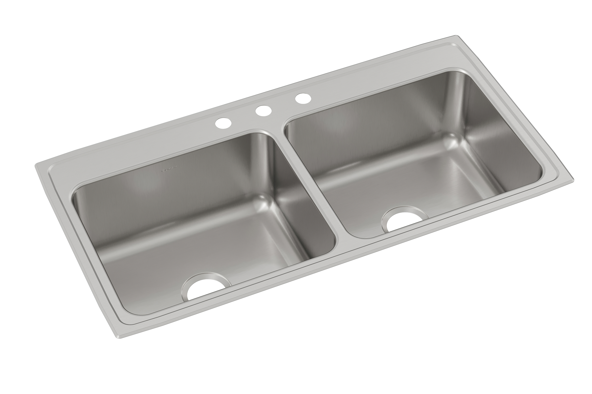 Elkay Lustertone Classic Stainless Steel 43 X 22 X 10 1 8 Equal Double Bowl Drop In Sink