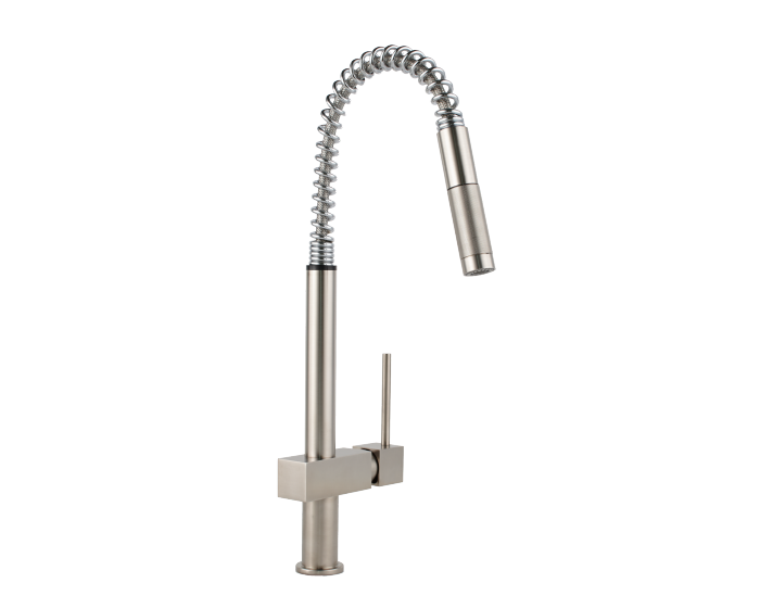 Elkay Avado Single Hole Kitchen Faucet with Semi-professional Spout and  Lever Handle Brushed Nickel