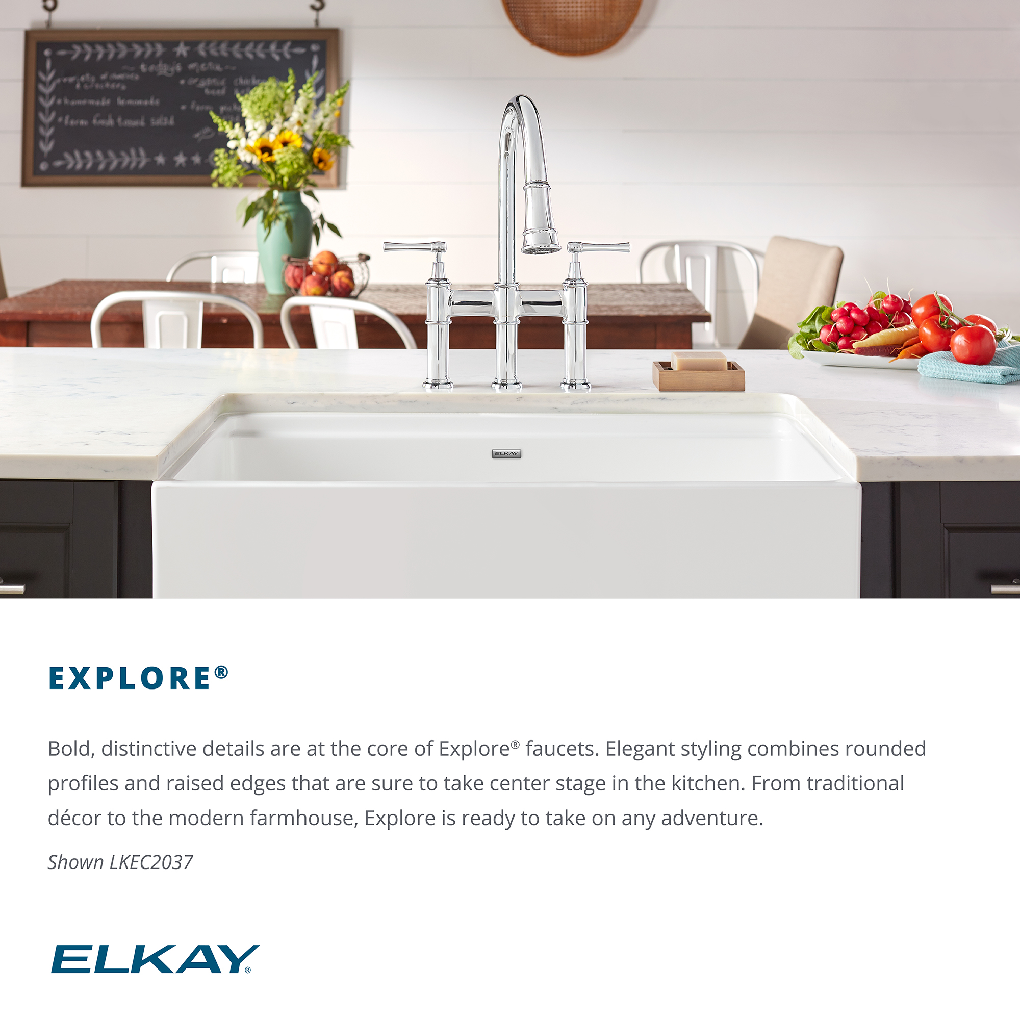 Elkay LKEC1041NK Single Hole Kitchen Faucet with Pull-out Spray and Lever Handle Brushed Nickel